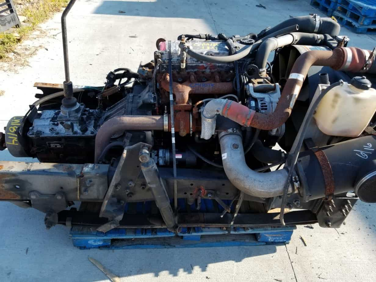 CUMMINS COMMONRAIL ISB 3 9 FRAME CUT WITH EATON 5 SPEED MANUAL TRANSMISSION  PRE WIRED