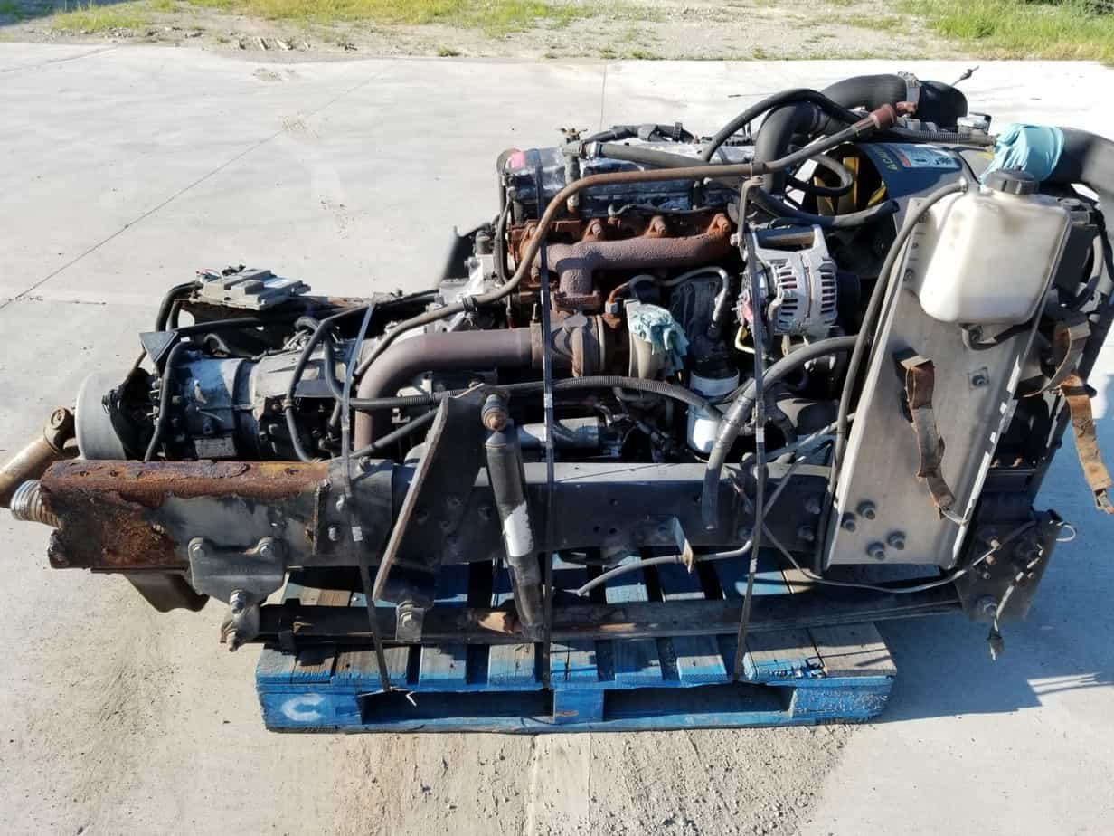 CUMMINS ISB 3 9 FRAME CUT WITH ALLISON 1000 5 SPEED OVERDRIVE TRANSMISSION  PREWIRED