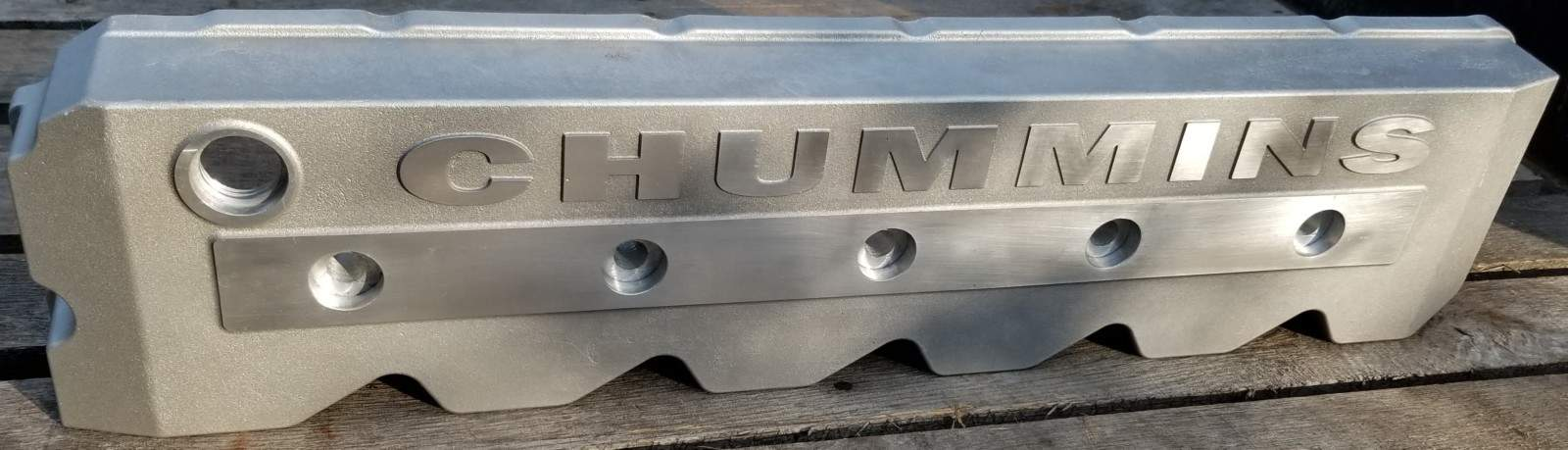 CHUMMINS bare aluminum Valve Cover that fits the Cummins 5 9 24 valve with  the vp44 pump