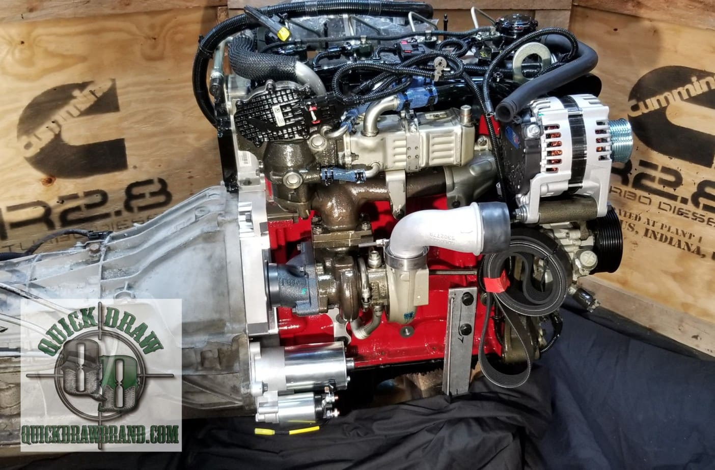 Cummins R2.8 Ford 4R100 side